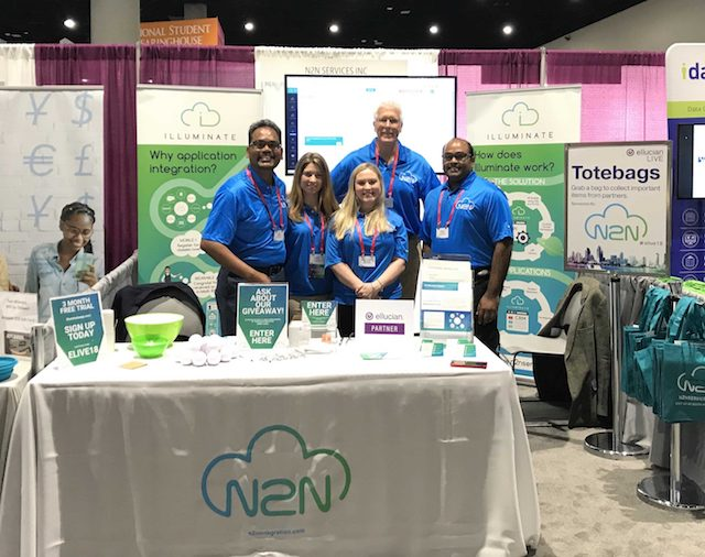 Staff at trade show